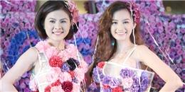 Vân Trang - Trúc Diễm lộng lẫy trong bộ váy hoa độc đáo