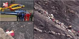 Toàn cảnh hiện trường máy bay rơi tại Pháp