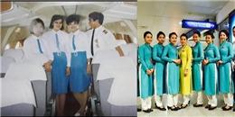 Đồng phục VNA từng là váy ngắn trước khi quay về áo dài