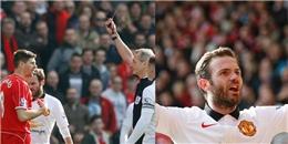 Gerrard nhận thẻ đỏ, Mata lập siêu phẩm nhấn chìm Liverpool ngay tại Anfield