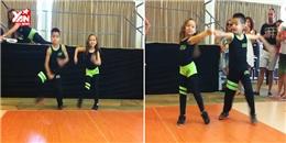 Hai vũ công nhí khoe vũ đạo chuyên nghiệp không thua kém người lớn