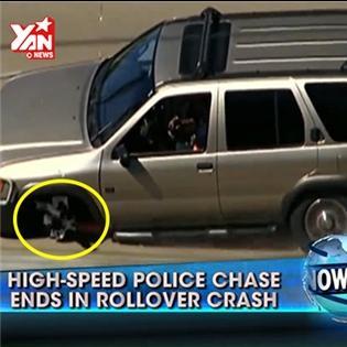 Cảnh sát truy đuổi tội phạm trên đường cao tốc như phim hành động