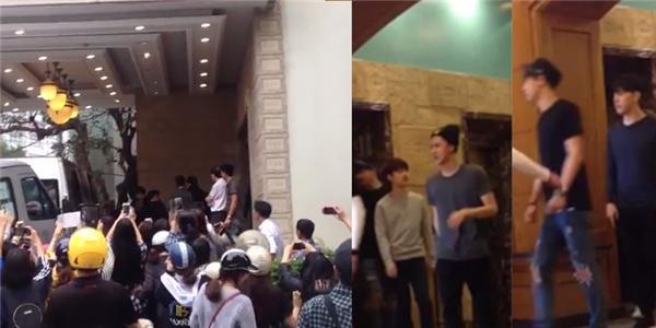 Fan  náo loạn  vì bắt gặp EXO giản dị đi ăn ở Hà Nội