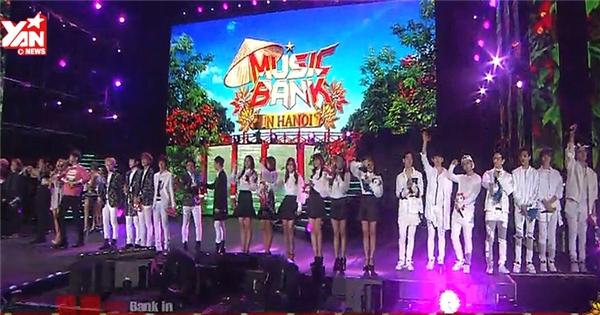 Toàn cảnh Music Bank tại Hà Nội trên sóng truyền hình