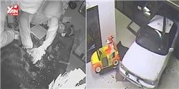 Dùng ô tô đâm vào siêu thị để trộm đồ