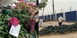 Hoa, quả đổ đống khắp vỉa hè Hà Nội hút khách với giá rẻ bất ngờ