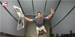'Hết hồn' với trò chơi khăm biến thang máy thành... nhà vệ sinh