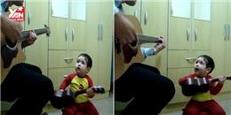 Ôm đàn hát như người lớn, bé trai bất ngờ nhận triệu lượt xem