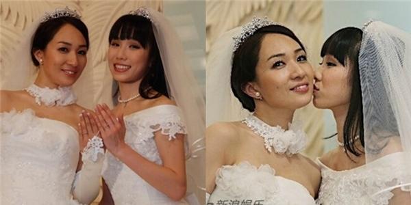 Đám cưới đồng tính đầu tiên của cặp diễn viên Nhật Bản gây xôn xao