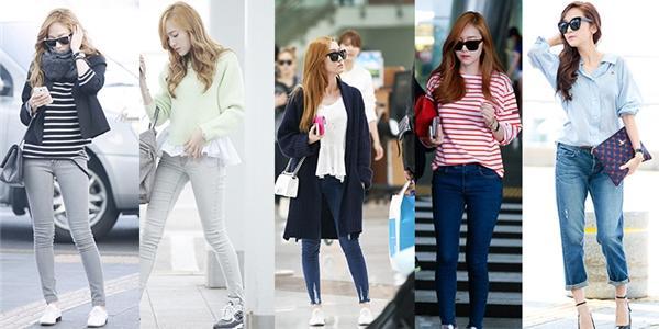 Gout thời trang sân bay với skinny jeans của Jessica SNSD