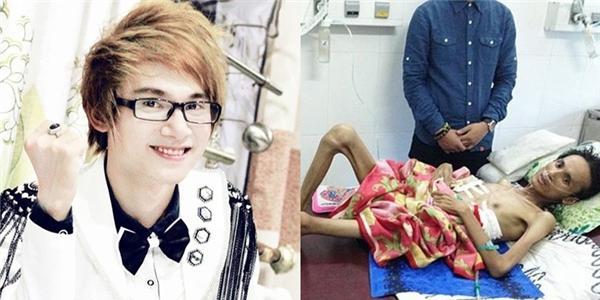 Xót lòng cảnh ca sĩ trẻ Vbiz chỉ còn  da bọc xương  vì bạo bệnh