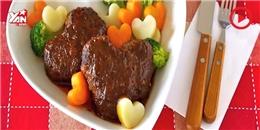 Tự tay chế biến thịt băm hình trái tim siêu ngon