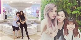 Mie Nguyễn  hội ngộ  cùng Helly Tong, Sa Lim thân thiết bên Tiên Tiên