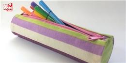 Tự tay chế tạo hộp bút từ giấy bìa và vải vụn