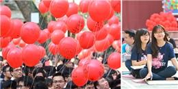 Dàn cuối cấp Việt Đức rộn ràng với lễ sinh hoạt dưới cờ cuối cùng của tuổi học trò