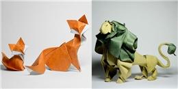 'Choáng' với vẻ sinh động từ hình xếp Origami độc đáo của nghệ sĩ Việt