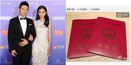 Huỳnh Hiểu Minh và AngelaBaby chính thức đăng ký kết hôn