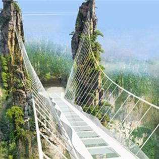 Rùng mình với cây cầu bằng kính cao nhất thế giới