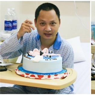 Nhạc sĩ Nguyễn Hải Phong  trải nghiệm  lần đầu ăn sinh nhật tại bệnh viện