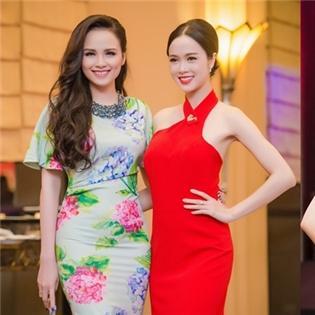 Diễm Hương – Ngọc Anh đọ sắc cùng Hoa hậu Hoàn vũ thế giới Riyo Mori