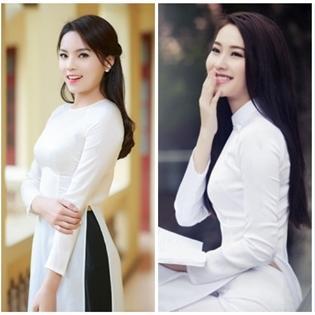 Sao Việt đẹp tinh khôi trong tà áo dài trắng muốt