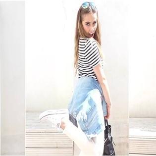 Cô nàng mũm mĩm trở nên thon gọn nhờ đồ Jeans