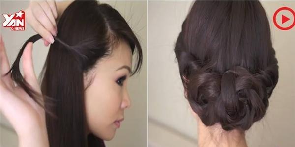 Đã mặc váy hoa, sao không thử búi tóc hình hoa nhỉ?