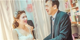 Nghẹn ngào với niềm vui và nước mắt của bố trong ngày cưới của con gái