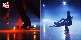 Màn trượt băng kết hợp pháo sáng đẹp đến mê mẩn