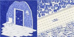 Trầm trồ với loạt tranh bằng bút bi đẹp đến mức 'không thể tưởng'