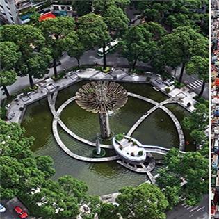 Lạ lẫm với nét đẹp của Sài Gòn qua những bức ảnh chụp từ trên cao