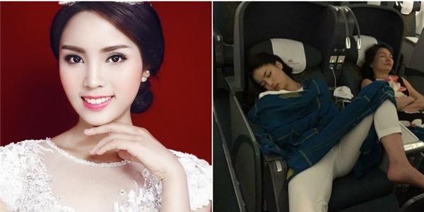 """Cư dân mạng """"hoảng hồn"""" trước dáng ngủ """"khó đỡ"""" của Hoa hậu Kỳ Duyên"""