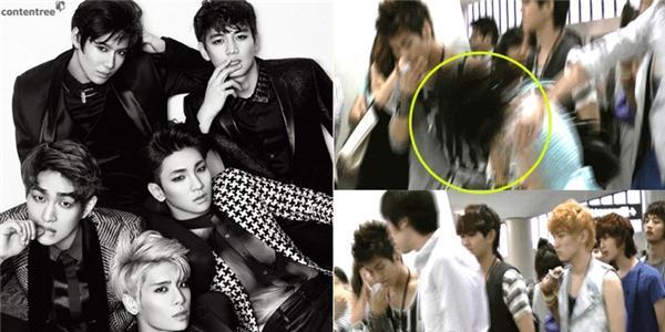 """Thần tượng Kpop """"muối mặt"""" vì quản lý thẳng tay đánh fan"""