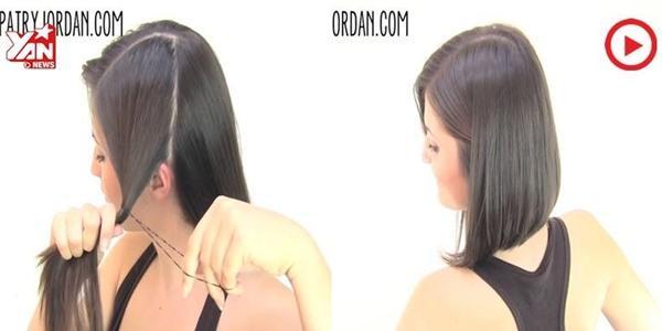 Tự tay cầm kéo tạo kiểu tóc bob cực chất