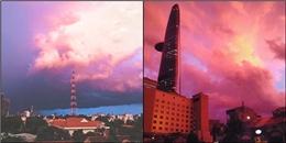 Cận cảnh bầu trời Sài Gòn chuyển màu 'siêu ảo diệu' trong chiều hôm nay
