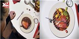 Lạ mắt với màn trình diễn ánh sáng 3D ngay trên bàn ăn