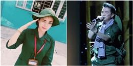 Ngắm sao Việt giản dị trong trang phục áo lính