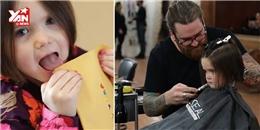 Cảm động bé gái hi sinh mái tóc dài để làm từ thiện