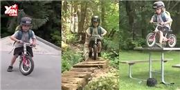 Nhóc tì đi xe đạp parkour  đỉnh  hơn cả người lớn