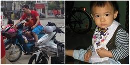 Danh hài Quang Thắng quần đùi giản dị đèo con trai dạo phố