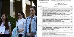 Nóng: Chính thức công bố đáp án và thang điểm các môn thi THPT Quốc gia 2015