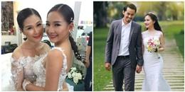 Bất ngờ với hình ảnh mặc váy cưới của vợ Duy Nhân
