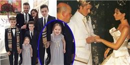 'Công chúa út' nhà David Beckham điệu đà mừng ngày cưới bố mẹ