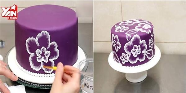 Trang trí hoa trên bánh kem cực đẹp và lạ mắt