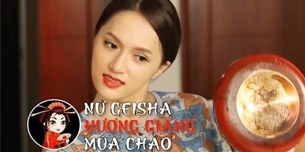 """Hương Giang Idol hóa """"geisha múa chảo"""""""
