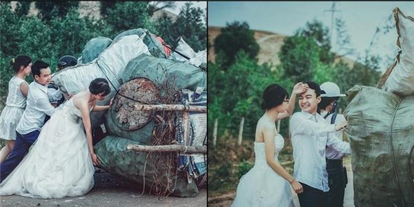 Mát lòng mát dạ với hành động đẹp của cô dâu - chú rể