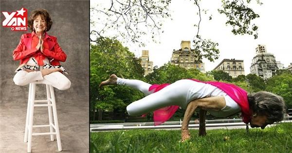 Ngưỡng mộ cụ bà 93 tuổi tập yoga siêu đẳng