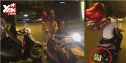 Sốc: Ông bố để con trai nhỏ lái xe máy trên đại lộ