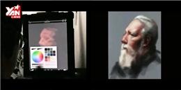 Thán phục tài vẽ tranh chân dung chỉ bằng một ngón tay