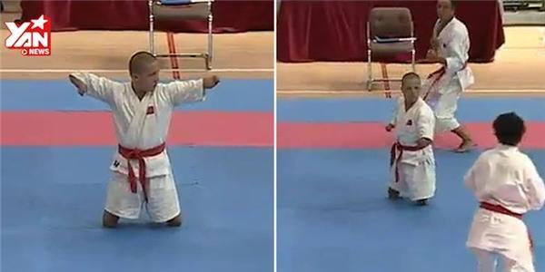 Nghị lực phi thường của vận động viên võ thuật không tay không chân
